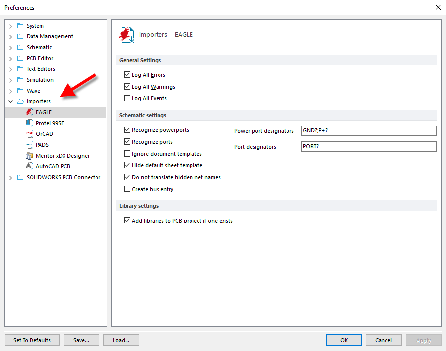 SOLIDWORKS PCB Import Files Feature