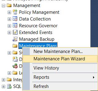 Maintenance Plan Wizard