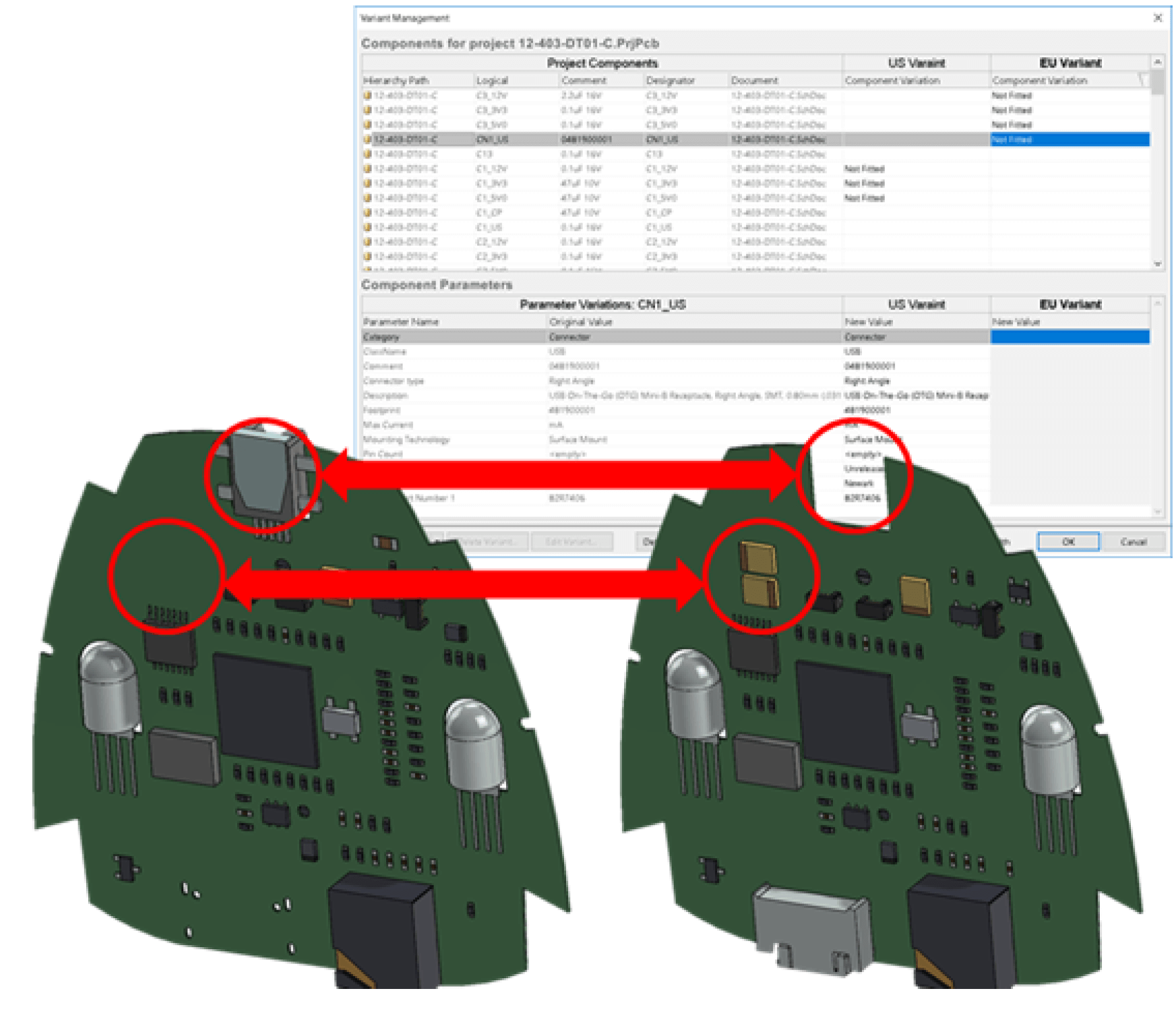 SOLIDWORKS PCB 2018 3D Integration Enhancements