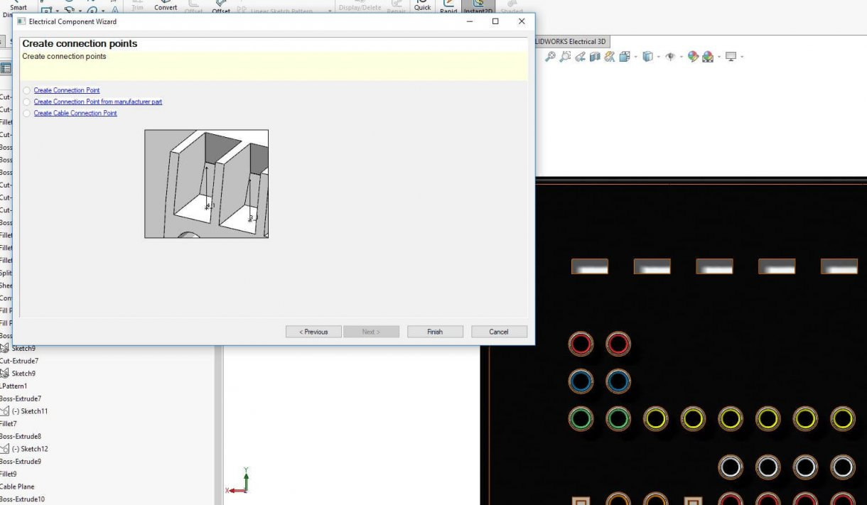 The Electrical Component Wizard allows users to add electrical 3D intelligence to models with just a few simple clicks
