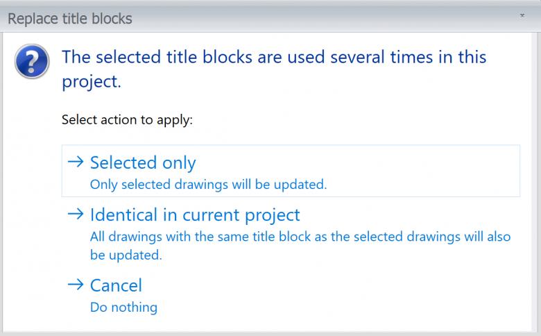 Replacing Titleblocks across a Project