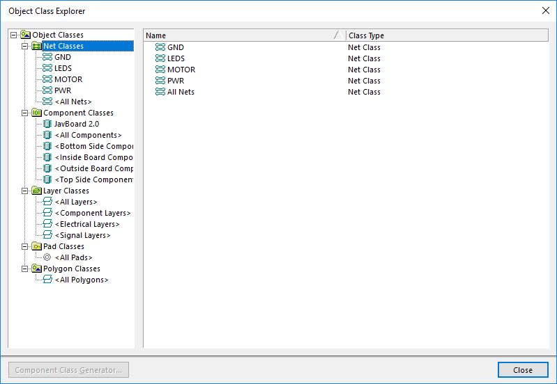 Object Class Explorer