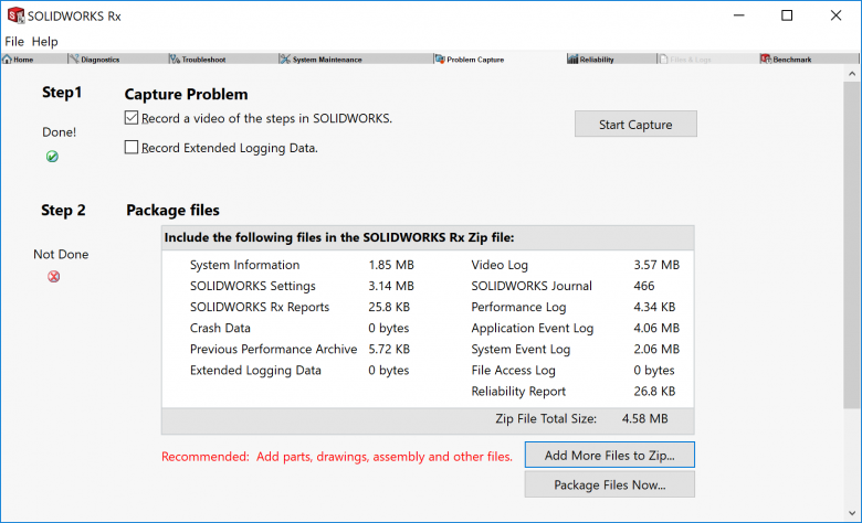 SOLIDWORKS Rx Package Files