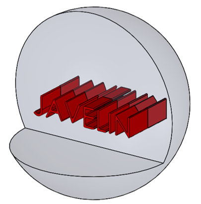 Cut-away of assembly