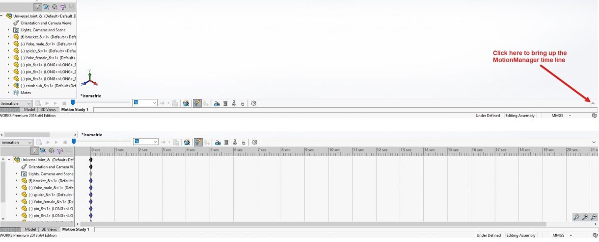 Motion Manager Timeline View