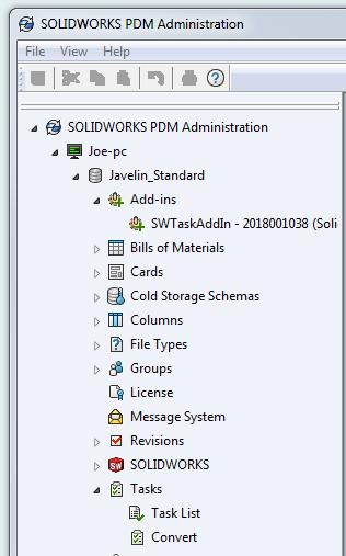 SOLIDWORKS PDM Administration Tasks