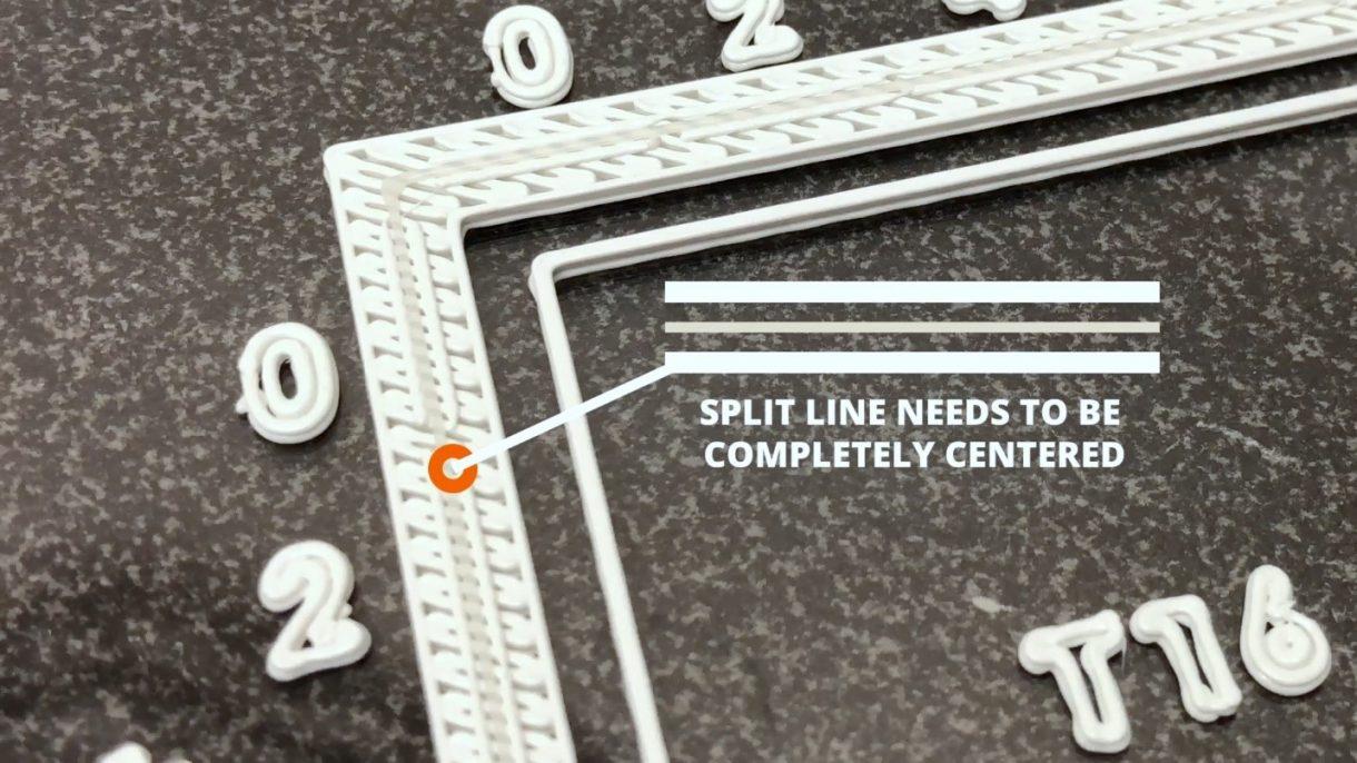 450 MC Calibration Square split line