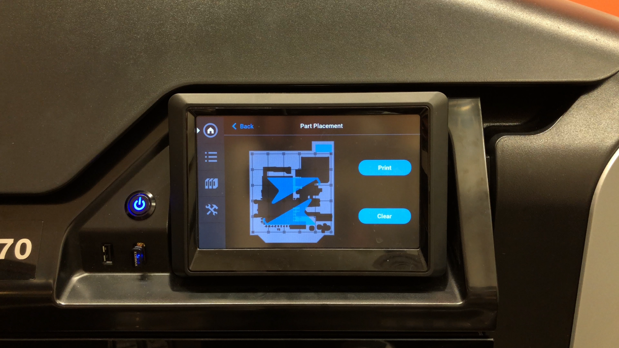 F123 Touch Screen 3D Printing Procedure