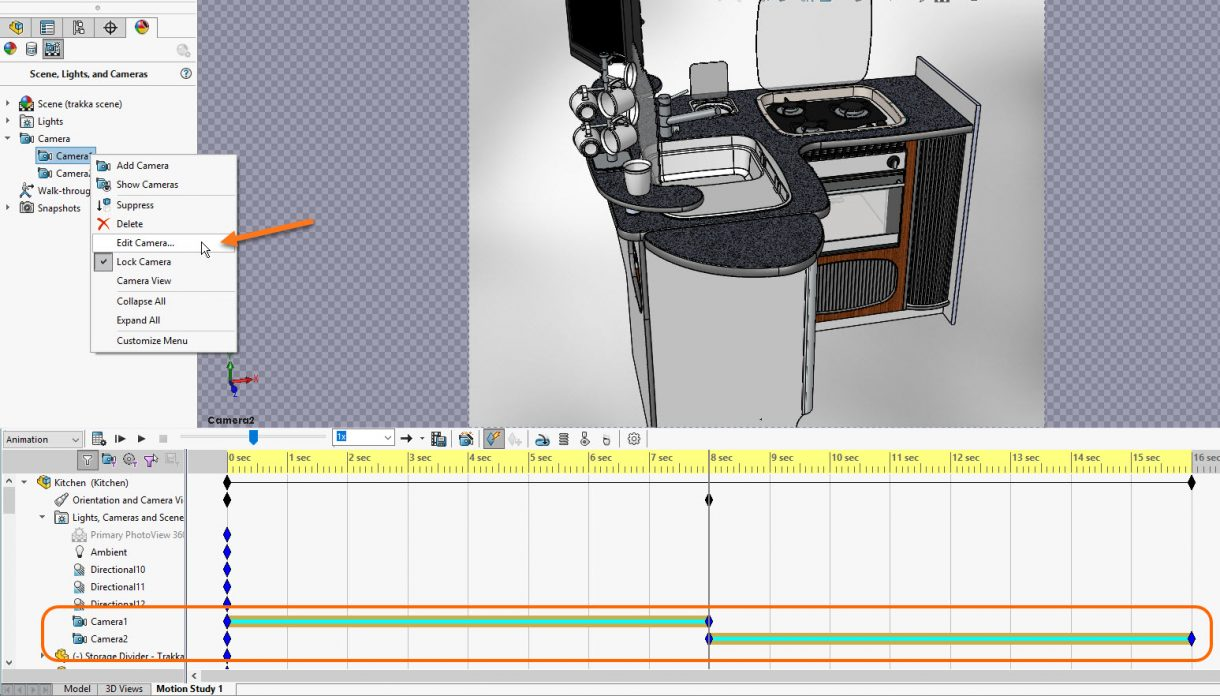 SOLIDWORKS Animations with Camera Keys