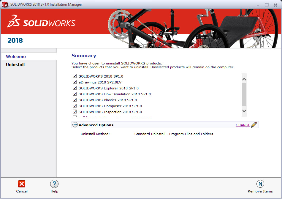 SOLIDWORKS Uninstall with the SOLIDWORKS Installation Manager