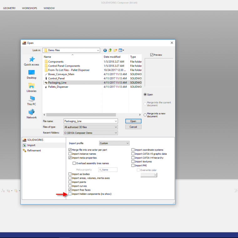 SOLIDWORKS Export Archives