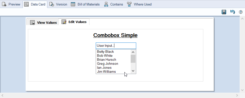Combobox Simple