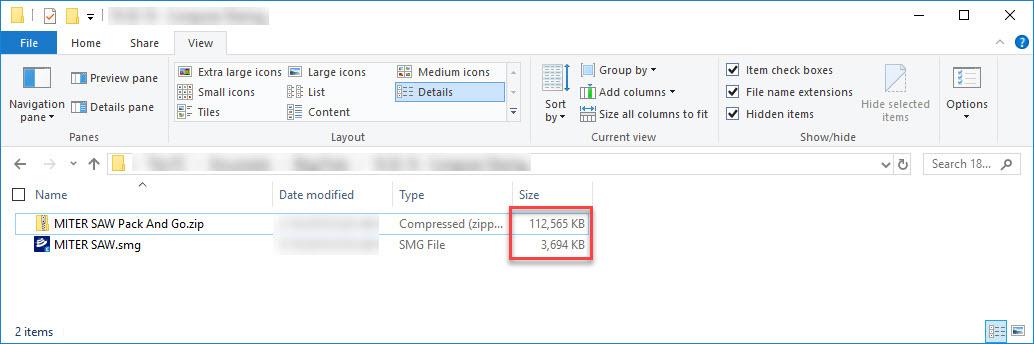 SOLIDWORKS Composer File Size Comparison