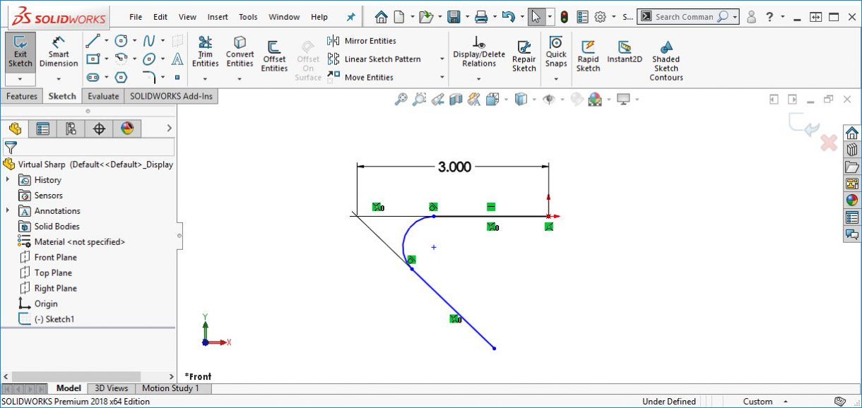 How To Change The Display Of A Solidworks Virtual Sharp
