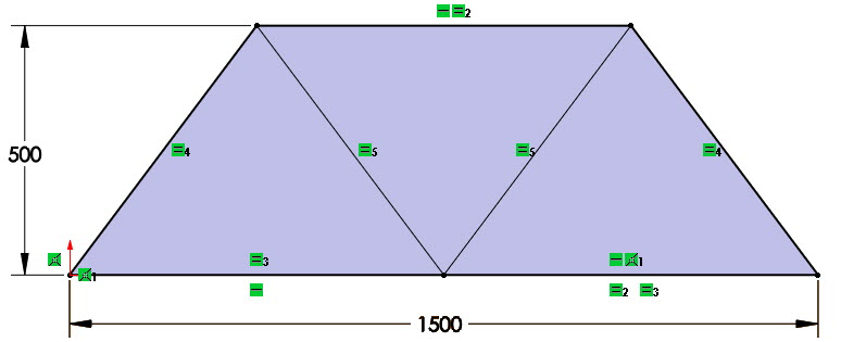 A 2D or 3D Sketch is needed for Truss Models. Small segments of lines represent Truss Member lengths and locations