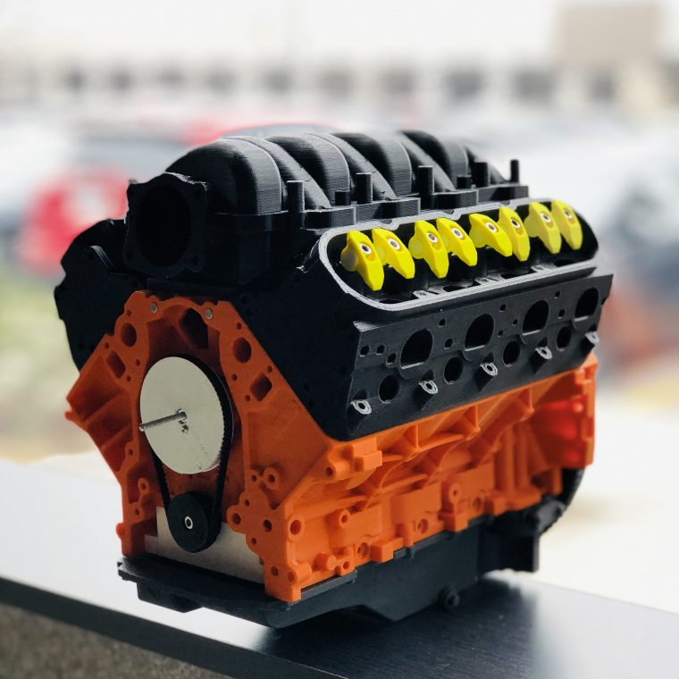 3D Printed V8 Engine