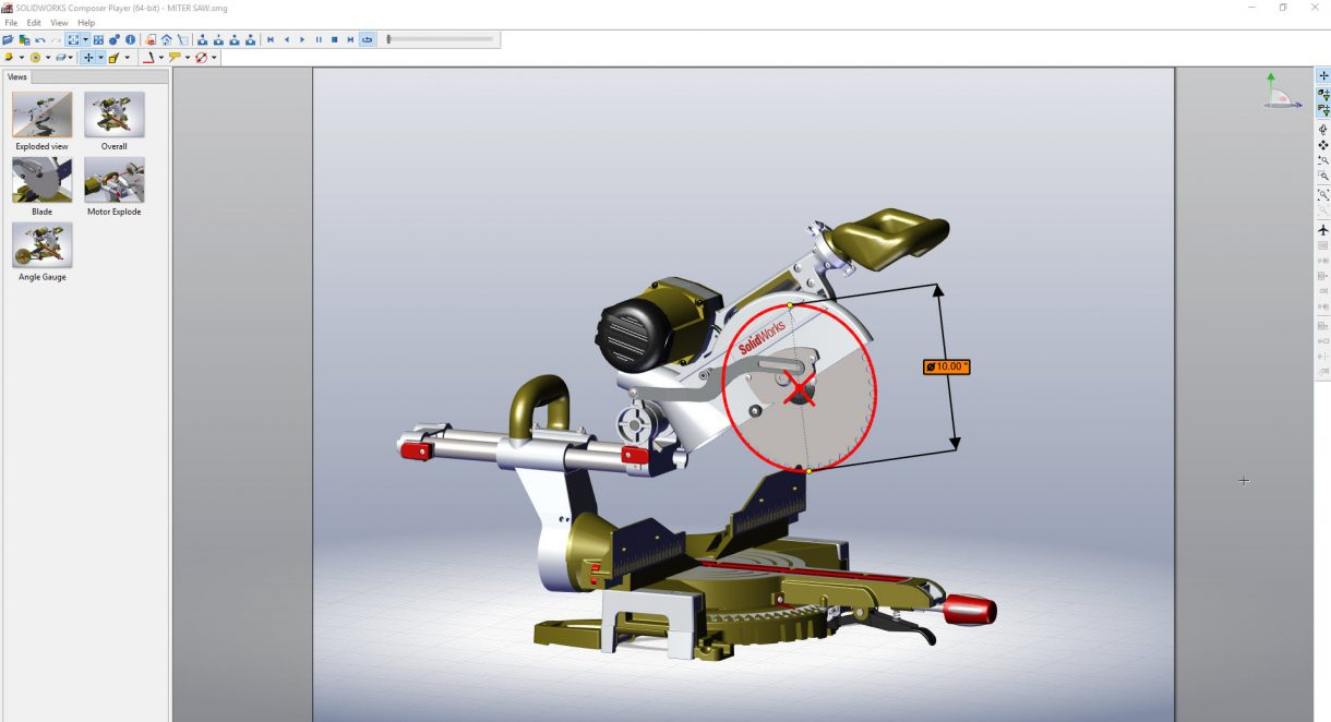 SOLIDWORKS Composer Player Sharing Tool