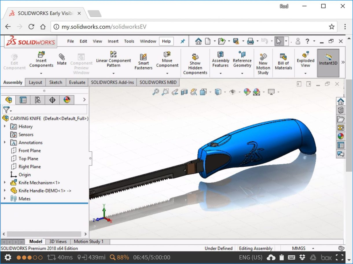 Testing SOLIDWORKS Service Packs in the browser