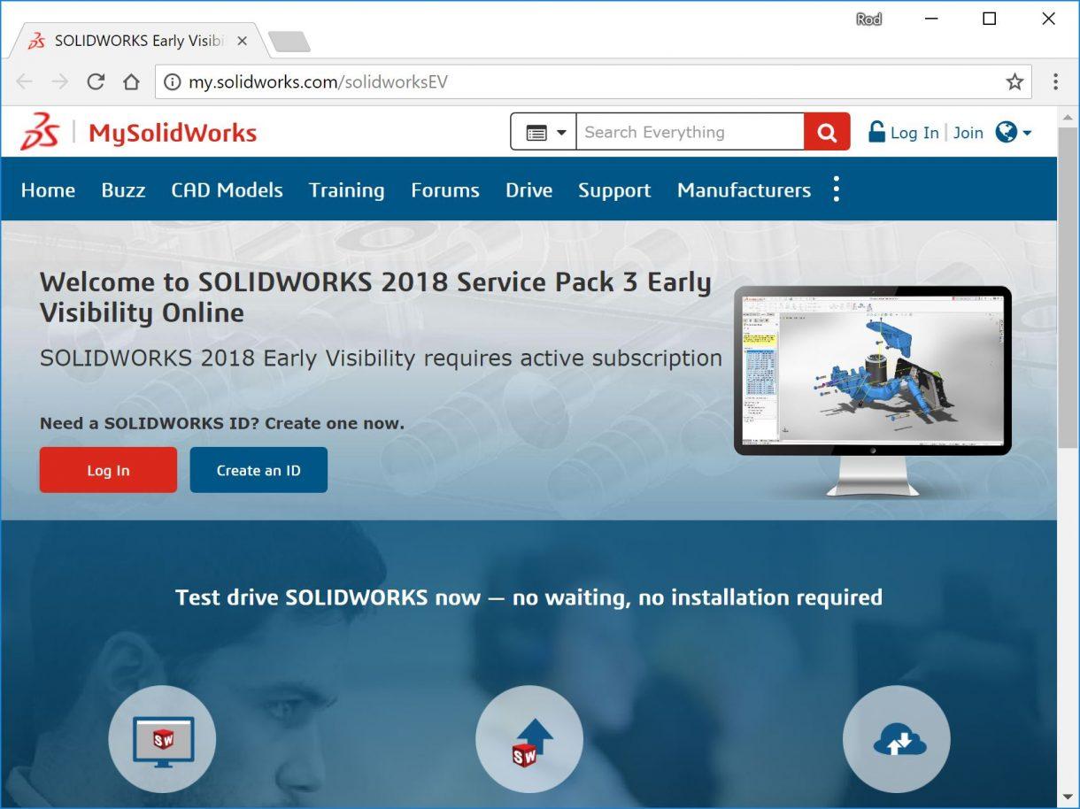 SOLIDWORKS EV MySolidWorks
