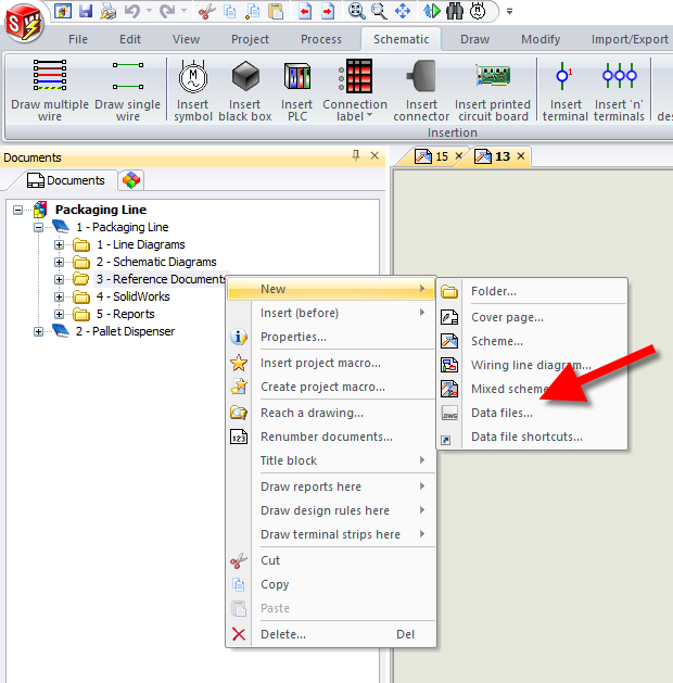 Browse and insert desired supporting documents