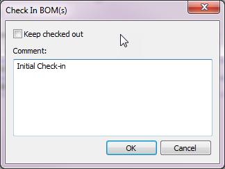 Check In BOM