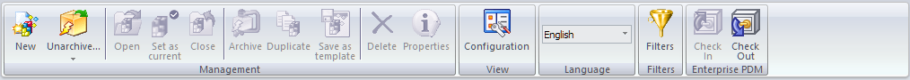 Advanced export with check in/out buttons directly integrates your Project Manager and PDM Vault