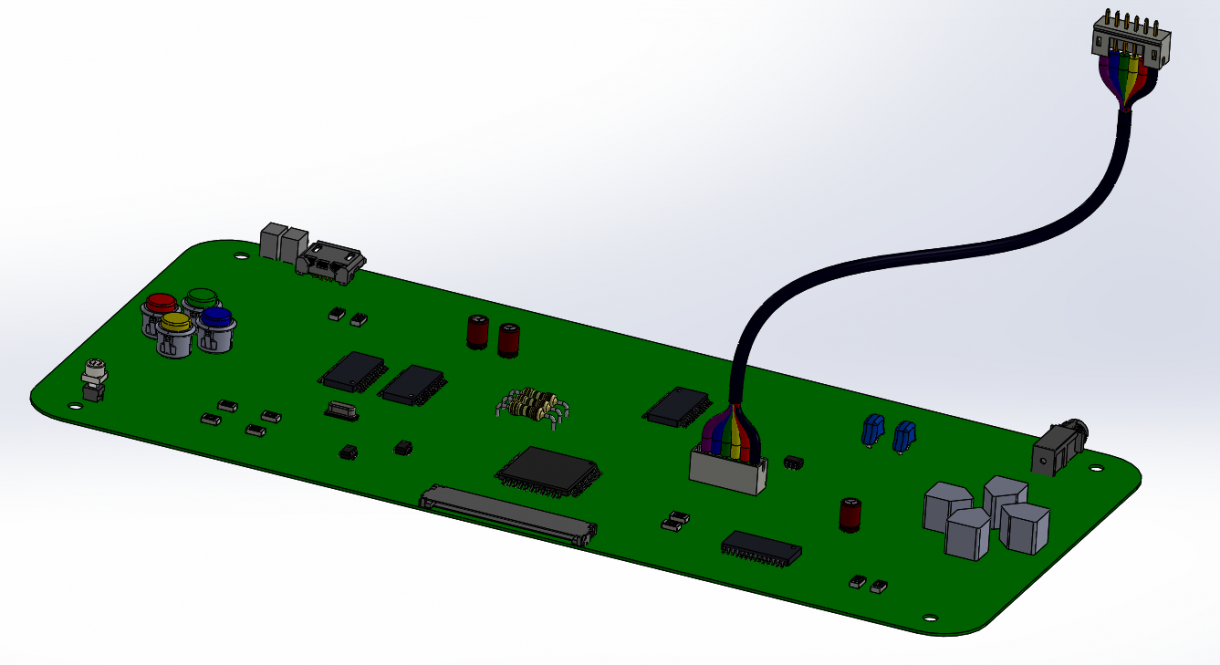 Cable assembly designed in SOLIDWORKS Electrical