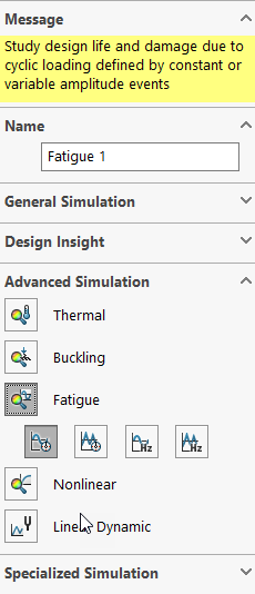 Fatigue integrated into SOLIDWORKS