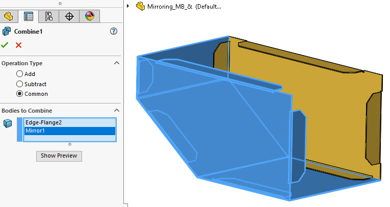 Interference Detection SOLIDWORKS Multibody Part