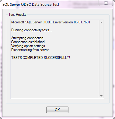 SOLIDWORKS PDM ODBC Test Results