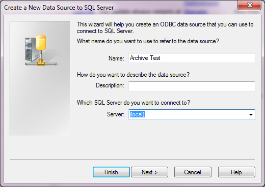 Defining the data source
