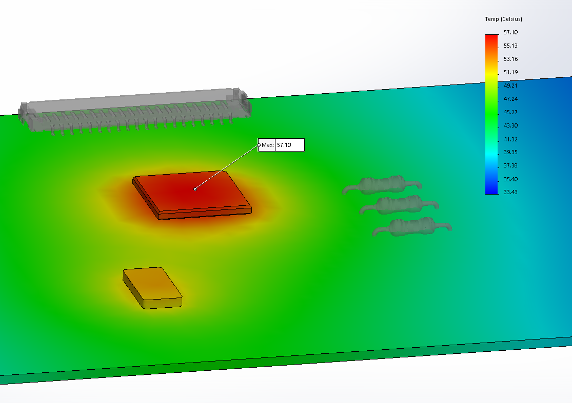 Thermal analysis of the CPU with the SOLIDWORKS Simulation add-in