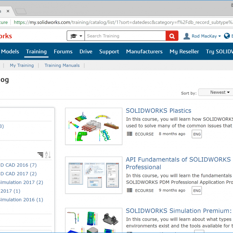 Free SOLIDWORKS Training