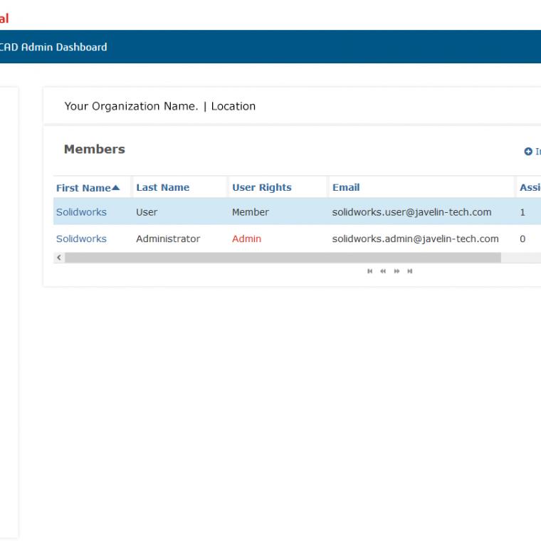 SOLIDWORKS Admin Portal