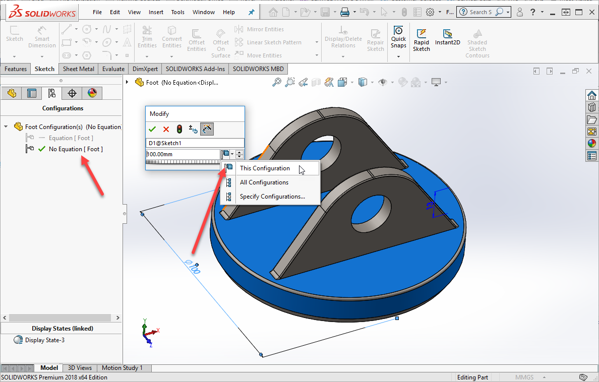 SOLIDWORKS Equation Removed