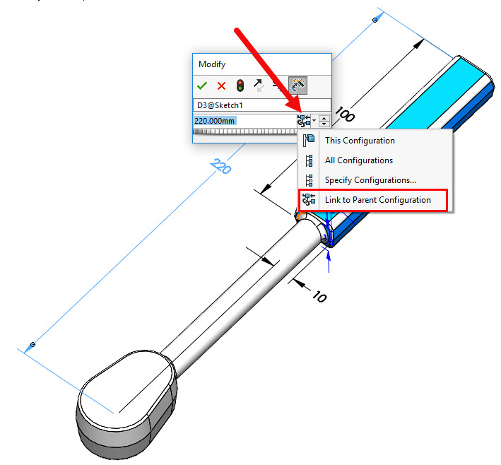 SOLIDWORKS Derived Configuration