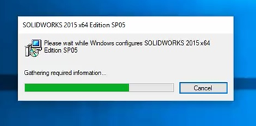 Windows message upon SOLIDWORKS launch