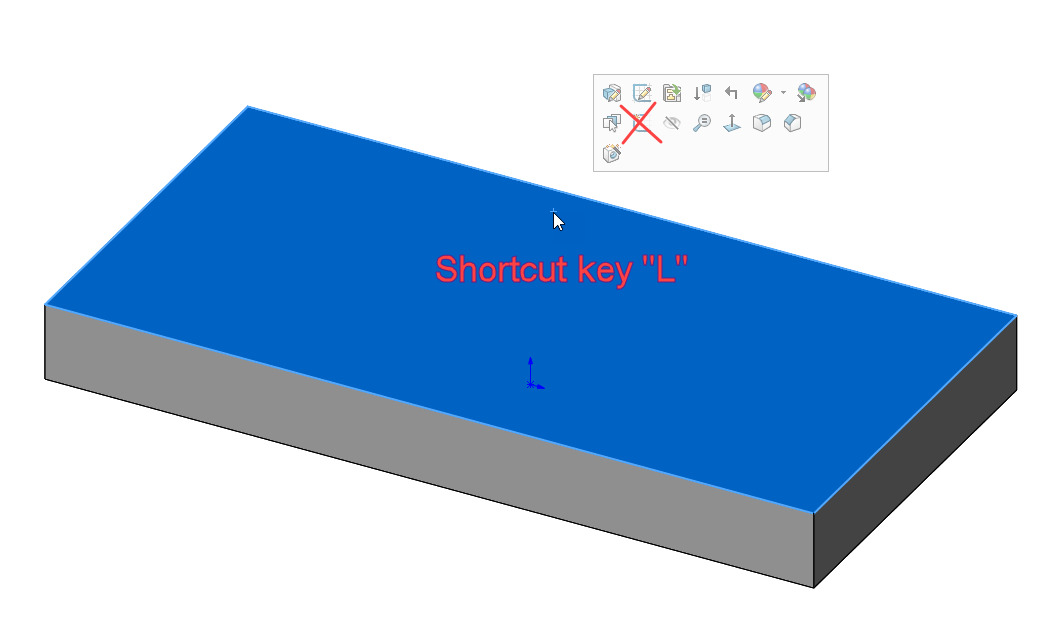 SOLIDWORKS Line Tool Shortcut