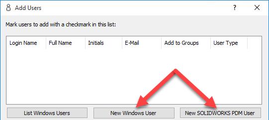 New Add User Options