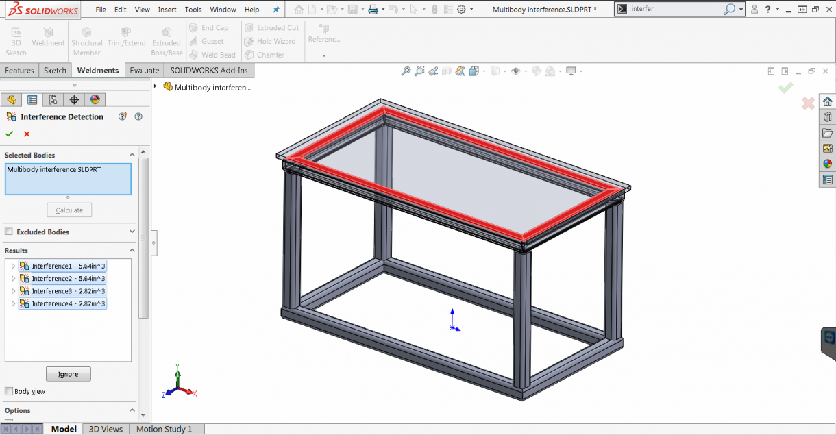 SOLIDWORKS 2019 Multibody Interference Detection