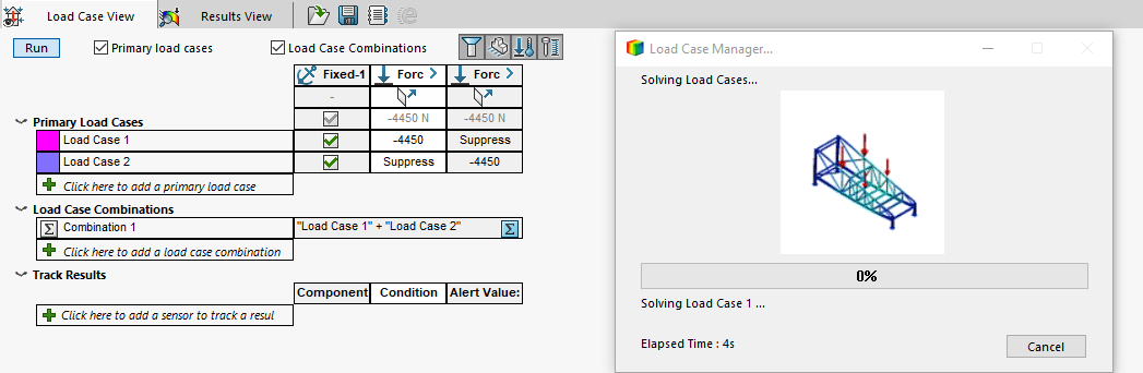 SOLIDWORKS Simulation Load Case Manager