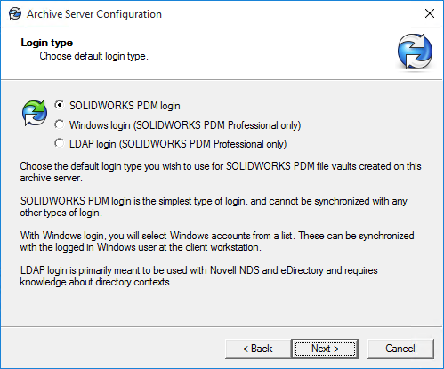 SOLIDWORKS PDM Mixed Login