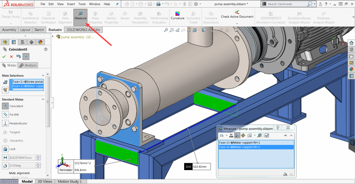 SOLIDWORKS 2019 Measure Tool Available when adding Mates