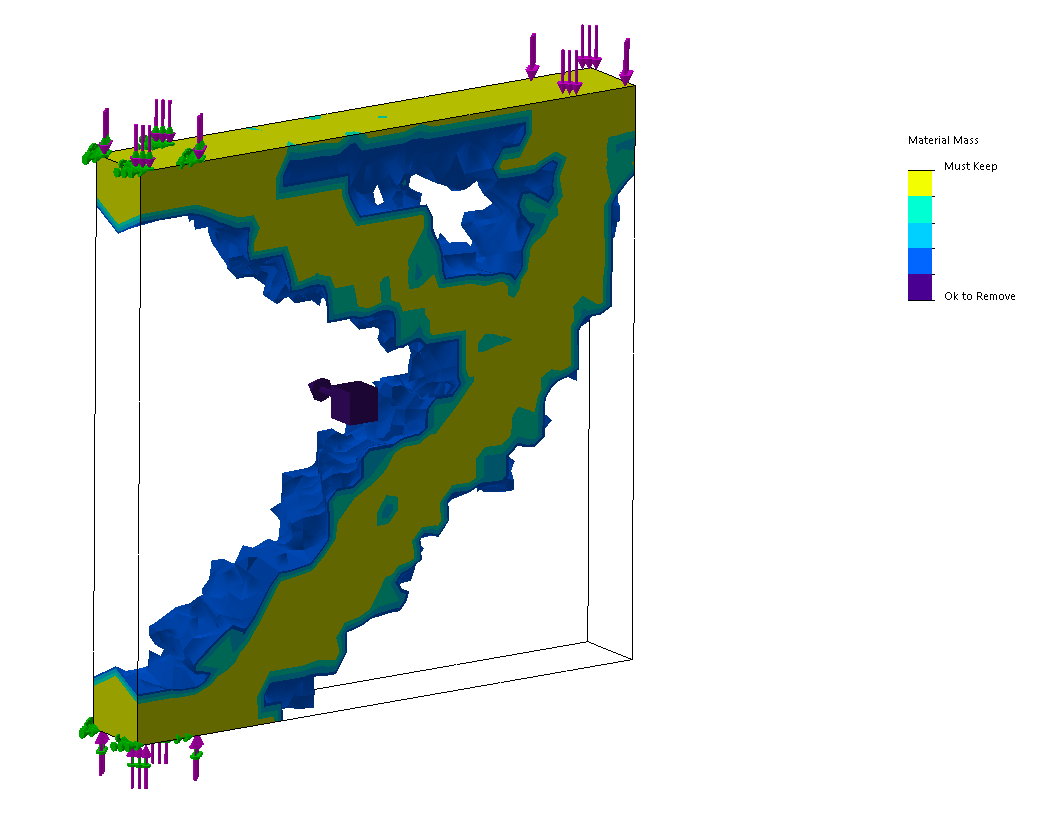 SOLIDWORKS Simulation Topology Study Intermediate Results