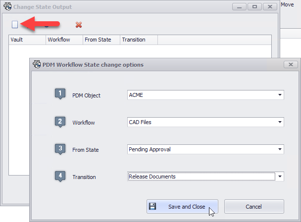 PDM Workflow State change options