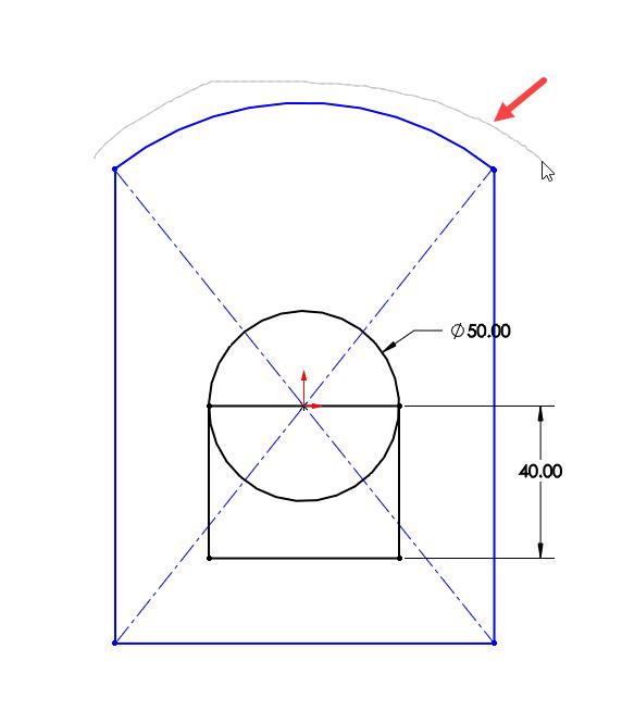 SOLIDWORKS Trim Construction Geometry