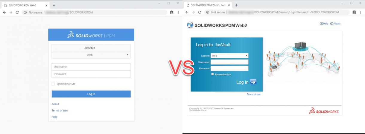 SOLIDWORKS PDM Web2 2019 vs 2018