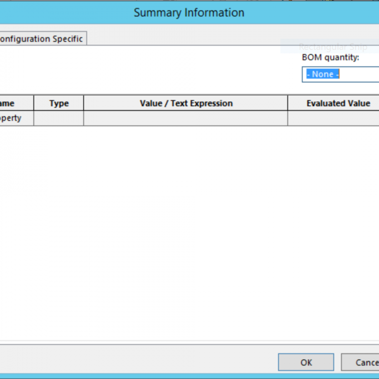 Summary Information Dialog