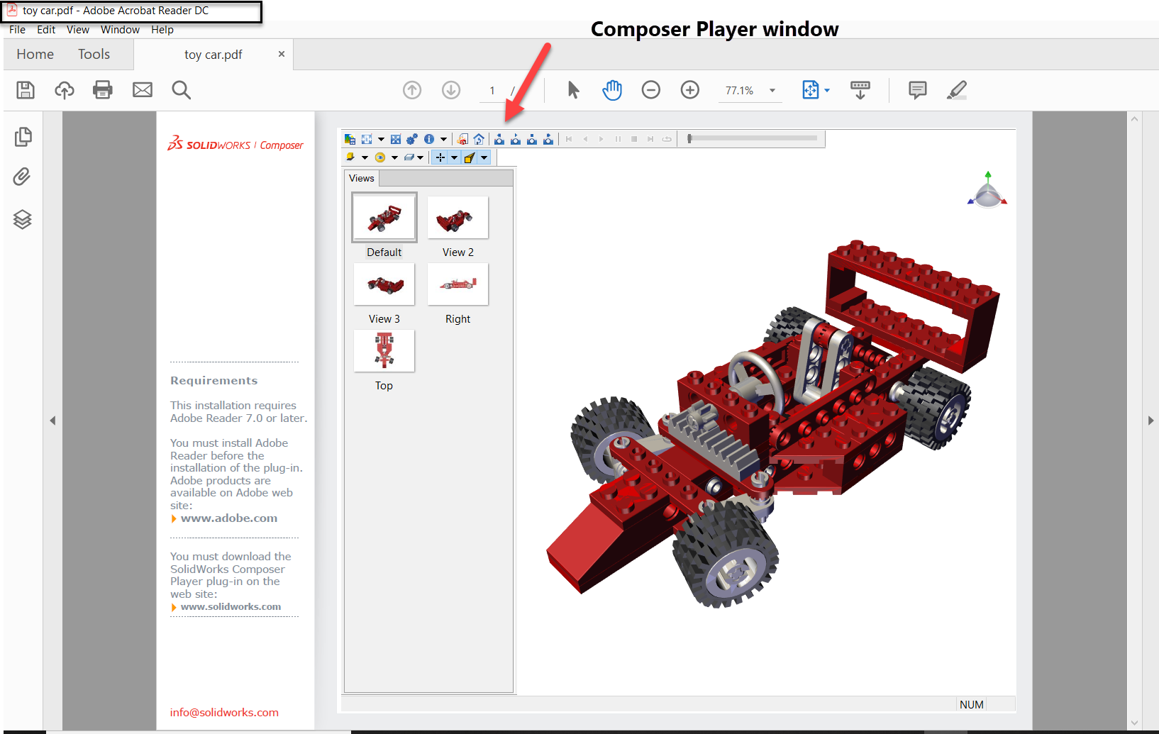 How to publish SOLIDWORKS Composer PDF Content