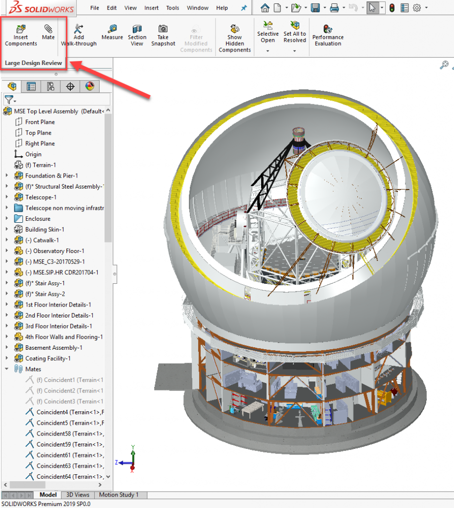 SOLIDWORKS 2019 Large Design Review Edit Mode